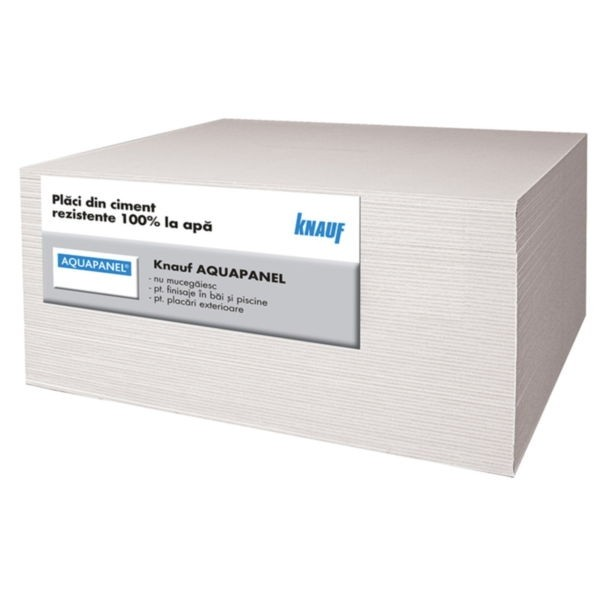Placa ciment AQUAPANEL Knauf exterior 2400x1200x12.5 mm